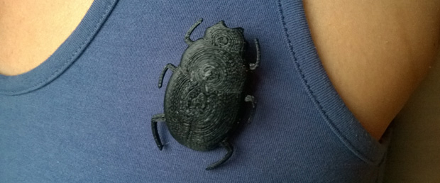 Classy Dung Beetle Broochwidth=
